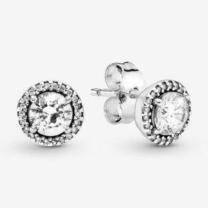 🔥Pandora🔥 Round Sparkle Stud Earrings